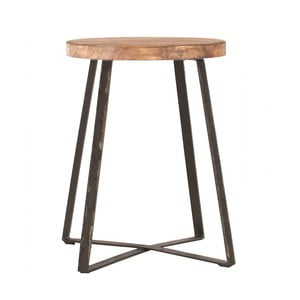 Příruční stolek s deskou z ořechového dřeva indhouse Tucson