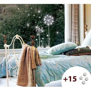 Set samolepky a 15 Swarovski krystalů Ambiance Dandelion Flowers