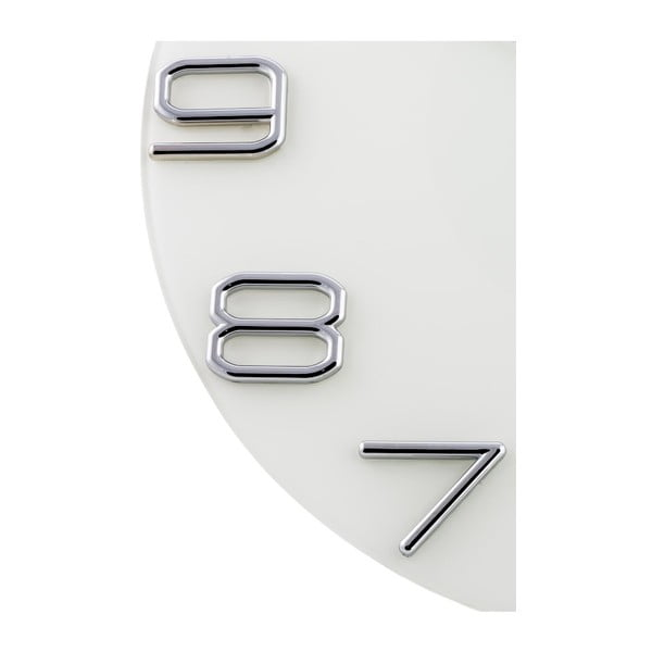 Hodiny Numbers Silver, 30 cm