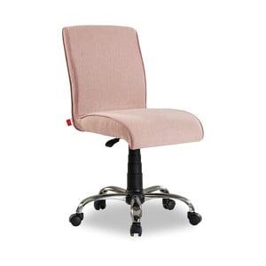 Světle růžová židle na kolečkách Soft Chair Pink