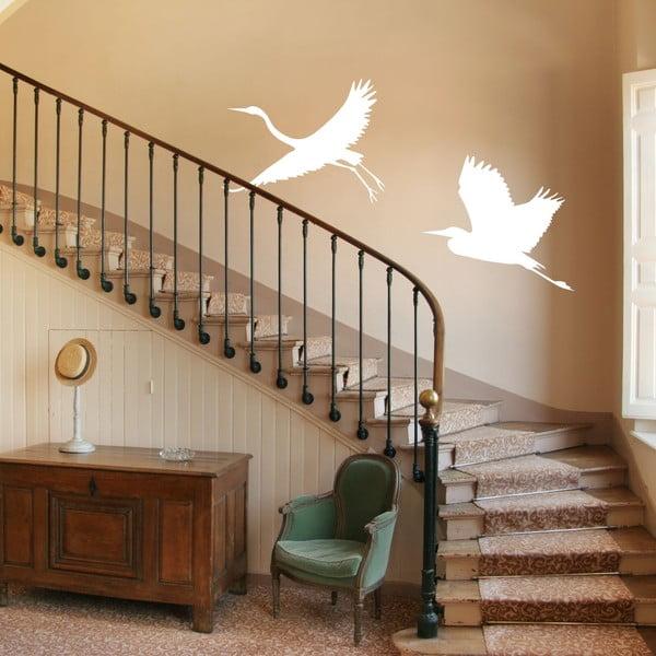Vinylová samolepka Bílé volavky na schodišti