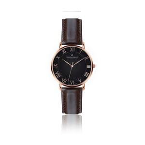 Pánské hodinky s tmavě hnědým páskem z pravé kůže Frederic Graff Rose dom Dark Brown Leather