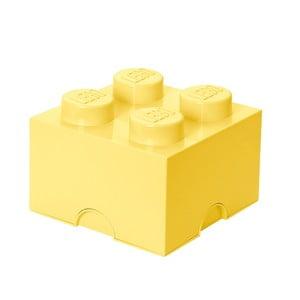 Světle žlutá úložná kostka LEGO®