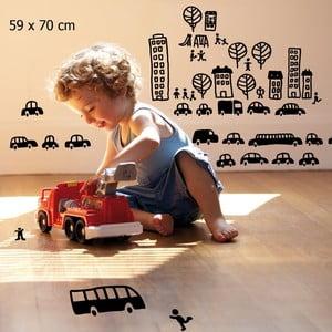 Samolepka Mini cars 59x70 cm