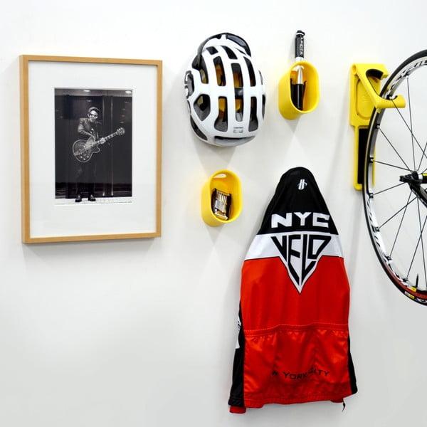 Nástěnný stojan na cyklistické doplňky Cycloc Loop, bílý