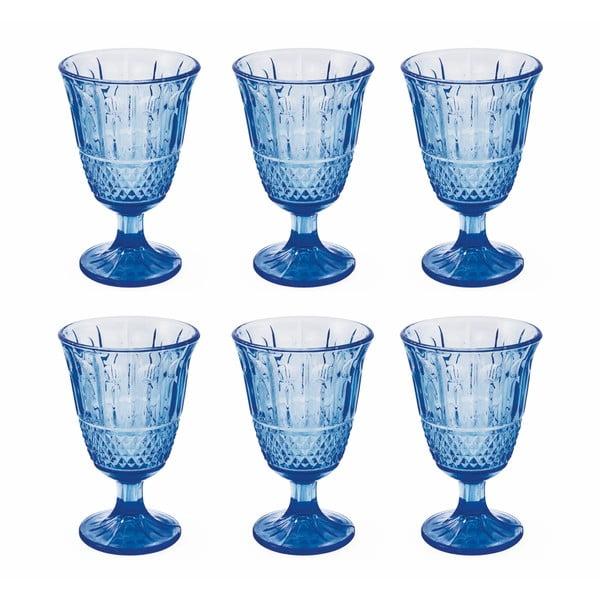 Zestaw 6 niebieskich kieliszków Villa d'Este Elegance