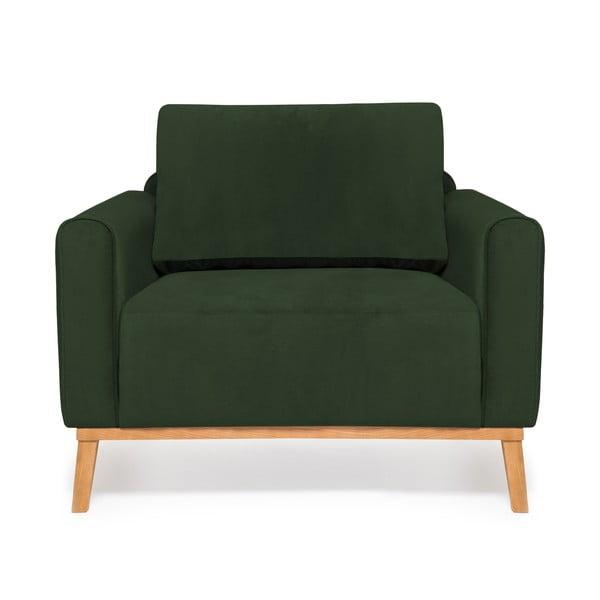 Tmavě zelené křeslo Vivonita Milton Trend