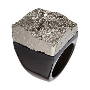 Prsten z pyritu a achátu Decadorn, vel. S