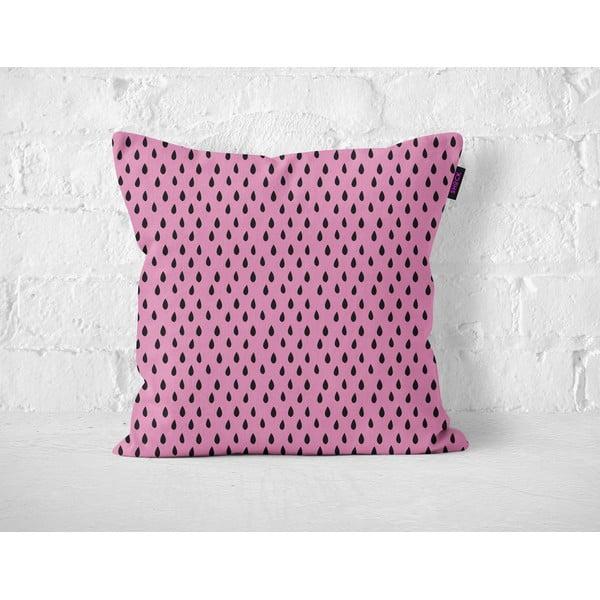 Polštář Pink Drops, 40x40 cm