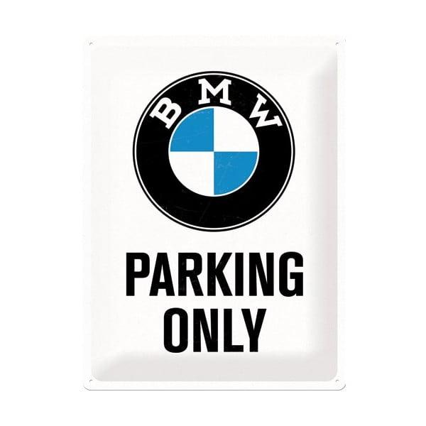 Plechová cedule BMW Parkings, 30x40 cm