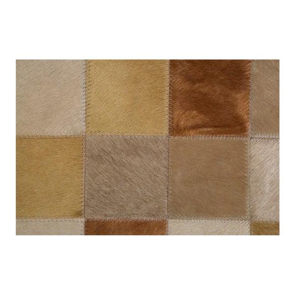 Béžový koberec z pravé kůže Pipsa Tones, 140x200 cm