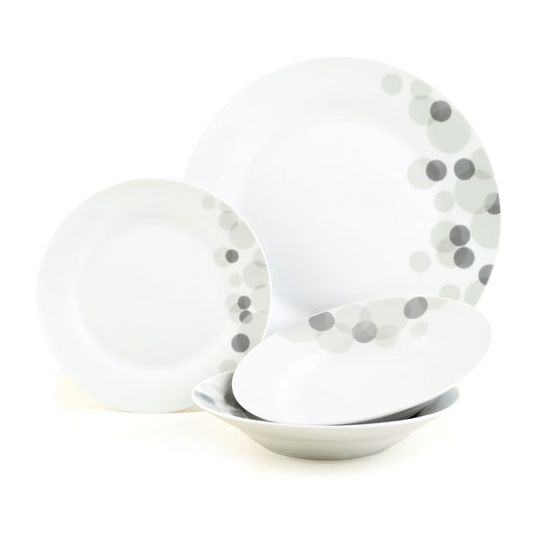 Porcelánový set Pebble, 12 ks