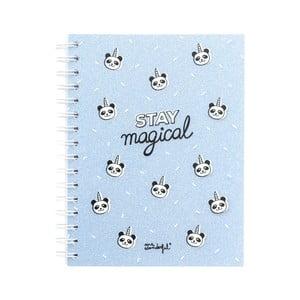 Modrý tečkovaný zápisník Mr. Wonderful Stay Magical
