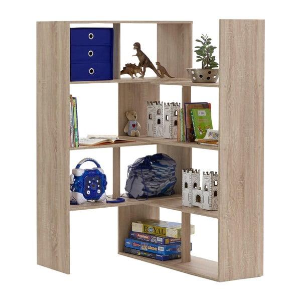 Nastavitelná knihovna v dekoru dubového dřeva 13Casa Stretch