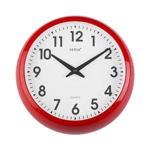 Nástěnné červené kuchyňské hodiny Versa, ⌀30cm