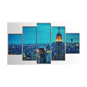 5dílný obraz NY, 100x60 cm