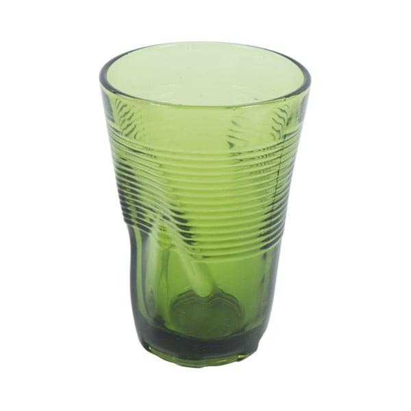 Sada 6 zelených sklenic Kaleidos, 340ml