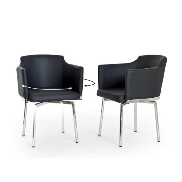 Sada 2 otočných židlí Detroit, bílé