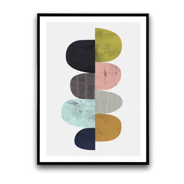Plakát v dřevěném rámu Allium, 38x28 cm