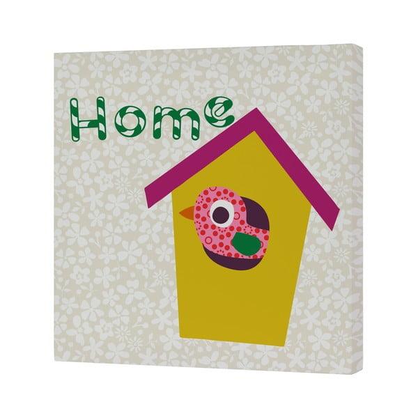 Nástěnný obrázek Sweet Home Yellow, 27x27 cm