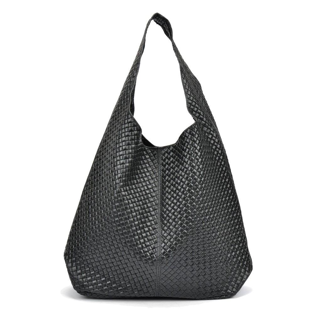 Černá kožená kabelka Mangotti Clusha