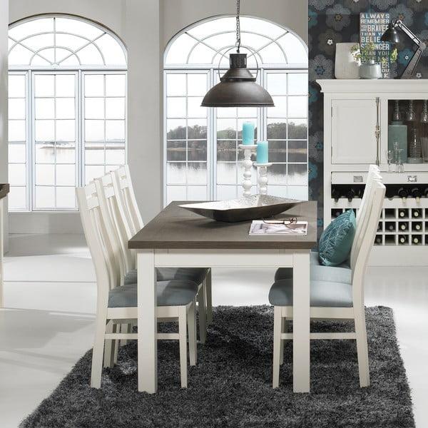 Bílý rozkládací jídelní stůl Canett Skagen Butterfly, 200 cm