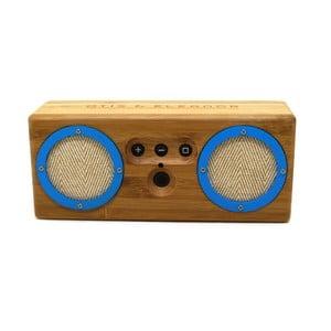 Přenosný bambusový speaker Power Blue Bongo
