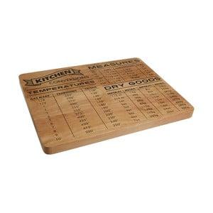 Krájecí prkénko z dřeva kaučovníku Premier Housewares Conversion, 35 x 27 cm