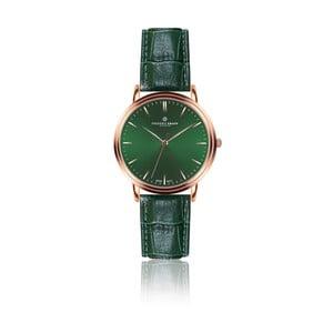Pánské hodinky s tmavě zeleným páskem z pravé kůže Frederic Graff Rose Grunhorn Croco Dark Green