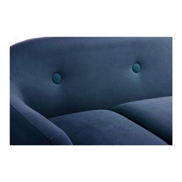 Námořnicky modrá pohovka Stella s lenoškou na pravé straně