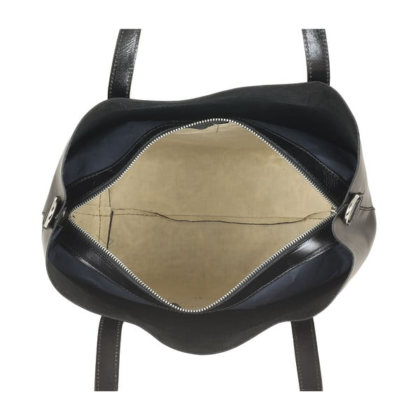 Kožená kabelka Italian Simplicity, černá