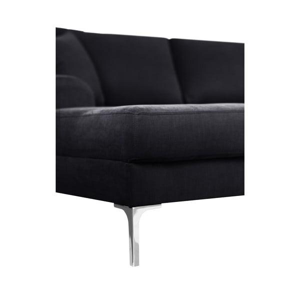 Canapea cu 3 locuri Corinne Cobson Dillinger, negru