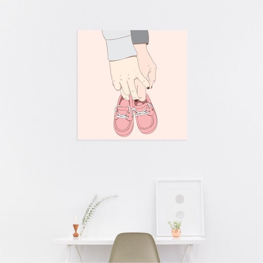 Nástěnný samolepicí obraz North Carolina Scandinavian Home Decors Love, 30 x 30 cm