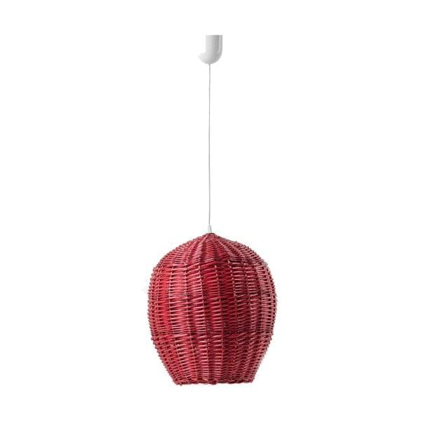 Stropní světlo Egg, 22 cm, červené
