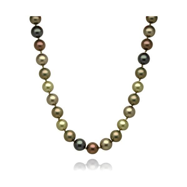 Zelenohnědý náhrdelník Mara de Vida Perldor, délka 45cm