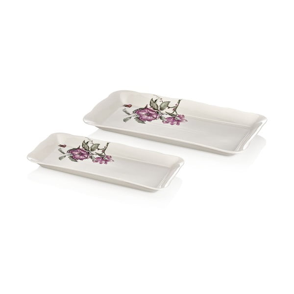Zestaw 2 talerzy porcelanowych Emilios