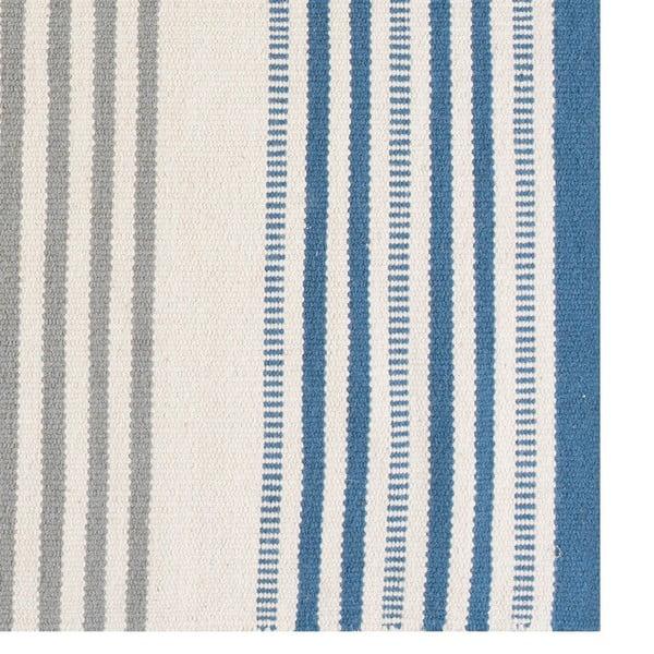 Ručně tkaný vlněný koberec Story Sky, 140x200cm
