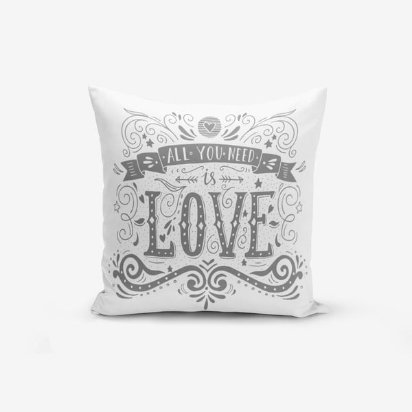 Obliečky na vaknúš s prímesou bavlny Minimalist Cushion Covers Love is, 45 × 45 cm