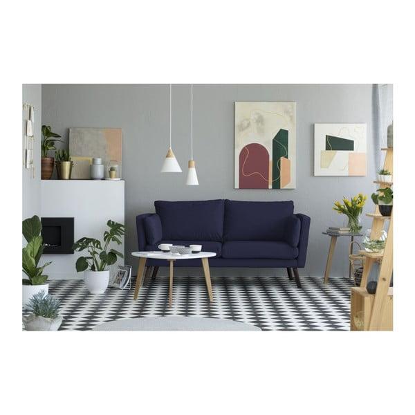 Námořnicky modrá 3místná pohovka Mazzini Sofas Cotton