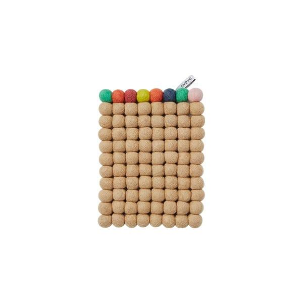 Vlněná podložka Trivet Nougat/Multi, 22x17 cm