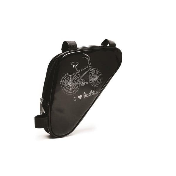 Taštička na kolo I ♥ Bicicleta, černá