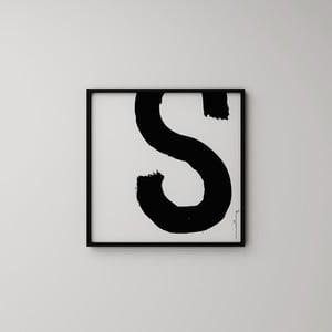 Plakát Litera S, 50x50 cm