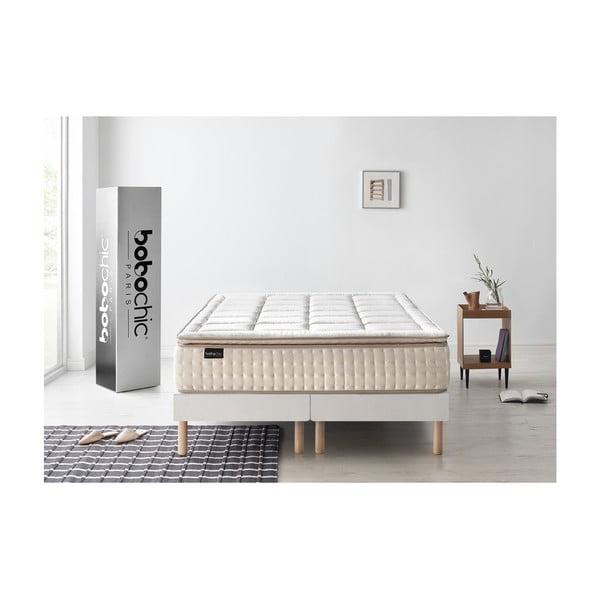 Bílá matrace s krémovým okrajem Bobochic Paris Cashmere,200x200cm