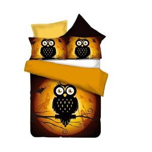 Oboustranné povlečení z mikrovlákna DecoKing Owls Ghoststory, 135x200cm