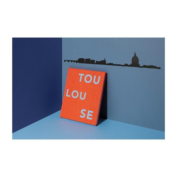 Černá nástěnná dekorace se siluetou města The Line Toulouse XL