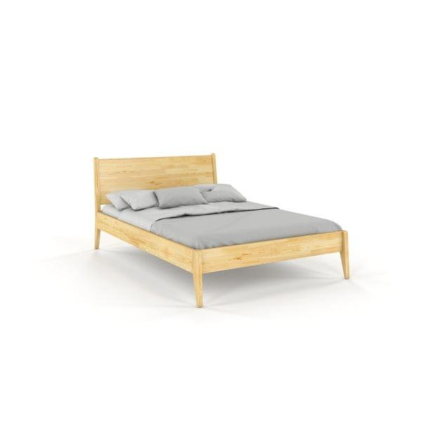 Dvojlôžková posteľ z borovicového dreva Skandica Visby Radom, 180 x 200 cm