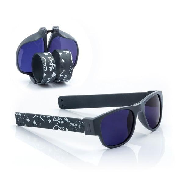 Tmavě modré sluneční srolovatelné brýle InnovaGoods Sunfold TR1