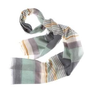 Šátek Bold Stripe Grey, 180x70 cm