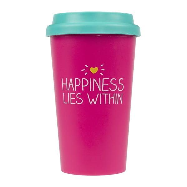 Cestovní hrnek Happy Jackson Happiness, 400 ml