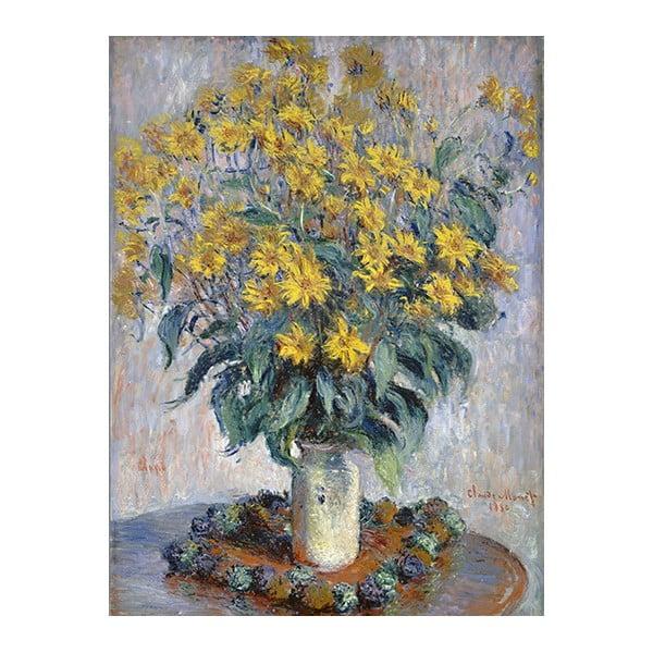 Obraz Claude Monet - Jerusalem Artichoke Flowers , 80x60 cm
